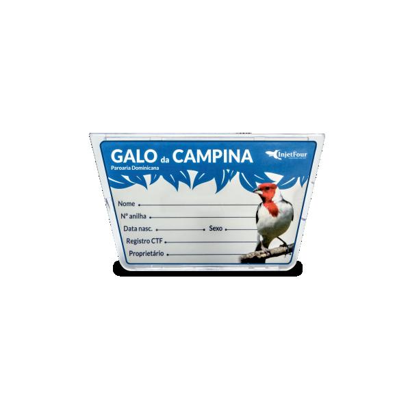 Placa De Identificação Galo De Campina