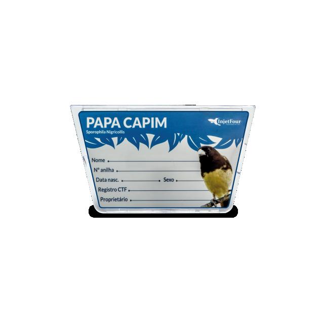 Placa Identificação Papa Capim