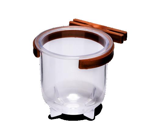 Porta Vitaminas Grande Cristal C/ Presilha Cobre