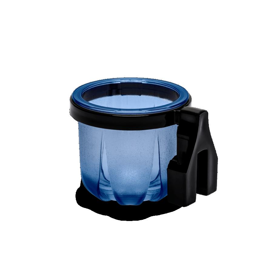 Porta Vitaminas Rubi Médio Azul Com Presilha Preta
