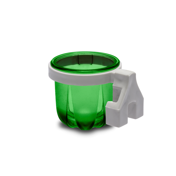 Porta Vitaminas Rubi Pequeno Verde Com Presilha Branca