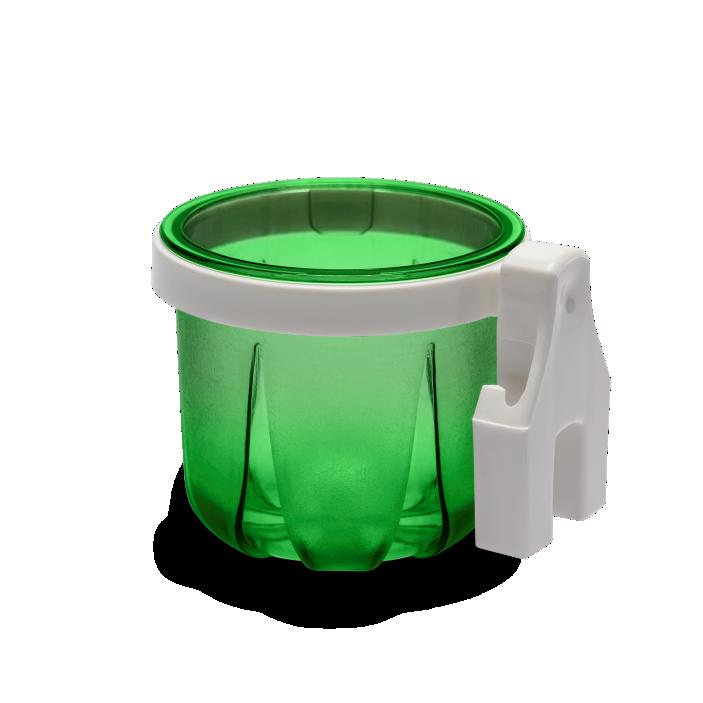 Porta Vitaminas Rubi TrincÃo Verde Com Presilha Branca